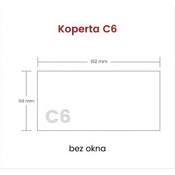 Koperta C6 SP bez okna 1000...