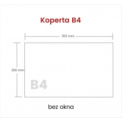 Koperta B4 HK bez okna 2000...