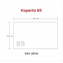 Koperta B5 HK bez okna 5000...