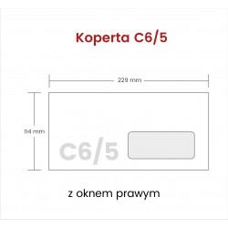 Koperta C6/5 z oknem prawym...