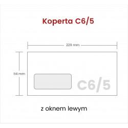 Koperta C6/5 z oknem lewym...