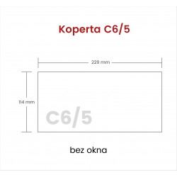 Koperta C6/5 bez okna 1000...