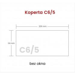 Koperta C6/5 bez okna 2000...