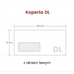 Koperta DL HK z oknem lewym...