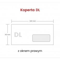 Koperta DL NK z oknem...