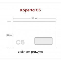 Koperta C5 NK z oknem...