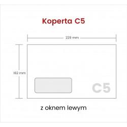 Koperta C5 NK z oknem lewym...