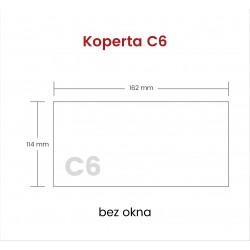 Koperta C6 HK bez okna 1000...