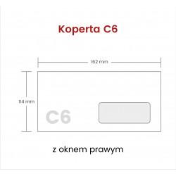 Koperta C6 SP z oknem...