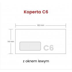 Koperta C6 PS z oknem lewym...